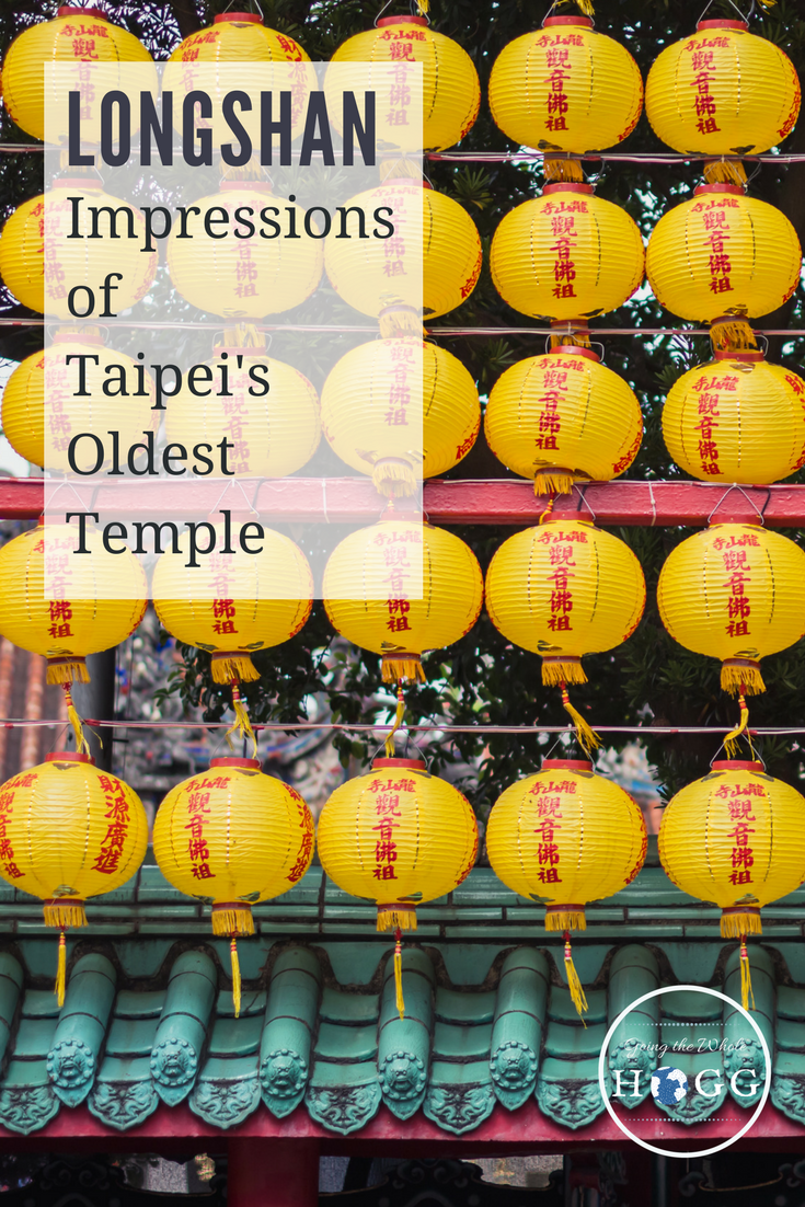 Discovering Taipei's oldest temple at Lunar New Year. A delight for all the senses, the throng of people only adding to the atmosphere. Read about this 300 year old temple, Taiwan's best known and one of its finest to visit. #Taiwan #Temple #TravelAsia via @goingthewholehogg