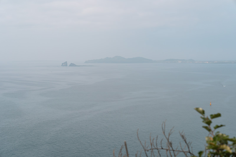 Looking out to sea from the cliffs on Jeju olle Trail Route 9