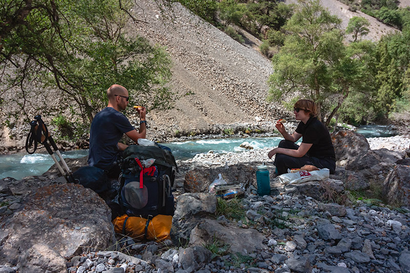 Independent Trekking In The Fann Mountains, Tajikistan: Haft Kul to Alauddin - Lunch at the Sarymat River