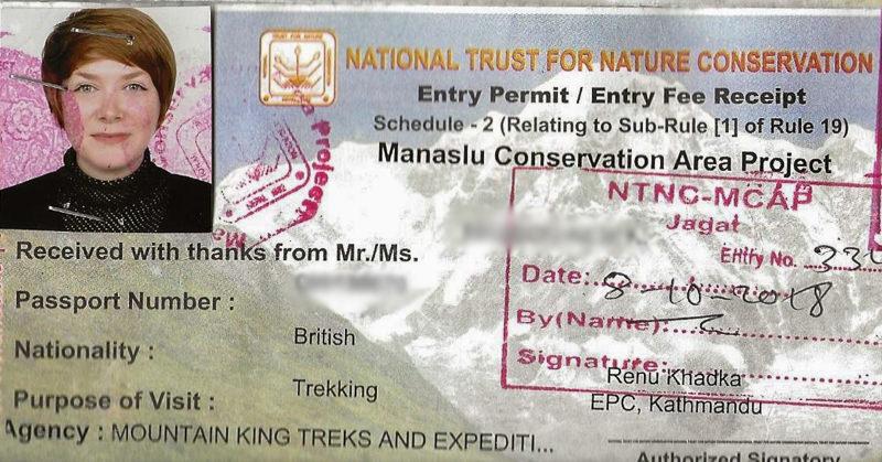 Manaslu Conservation Area Project Permit (MCAP)