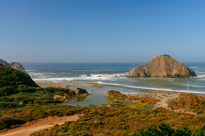 A photographic journey: Rugged rocks and ocean along Mendocino County Coastline, California, USA