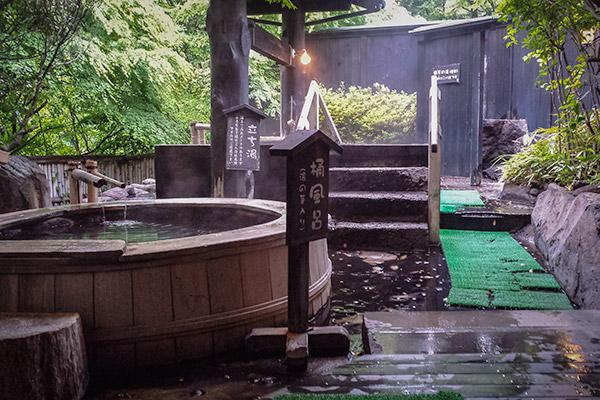 Men's baths at Iyashinotosato Kiyashiki, Kurokawa Onsen