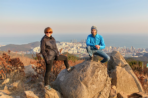 Busan City Guide: At the peak of Jangsan Mountain, overlooking Busan city and the ocean
