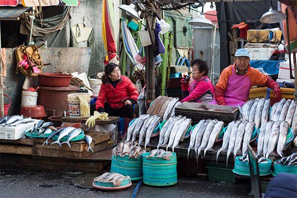Busan City Guide: Outside at Jagalchi Fish Market