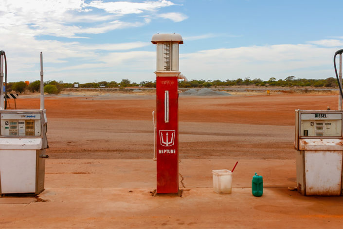 Western Australia Road Trip: The petrol station in Paynes Find that we almost never mad
