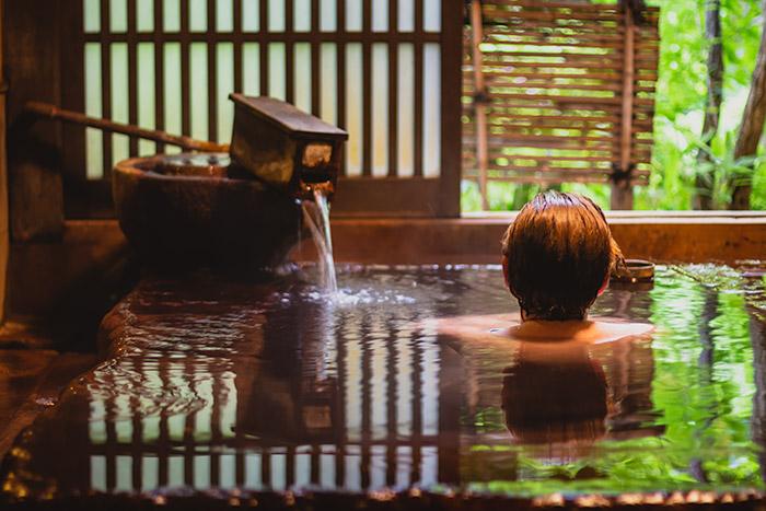 Private bath at Ryokan Yumotoso, Kurokawa Onsen