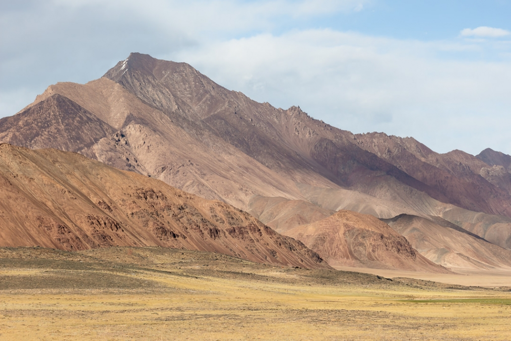 Mountains of many hues and shades in the Pshart Valley near Murghab in Tajikistan.