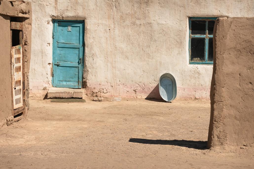 A dry an dusty house and yard in Rangkul, Eastern Tajikistan.