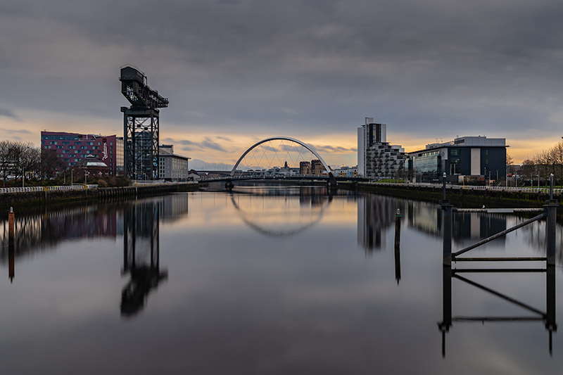 Iconic views along The Clyde, Glasgow