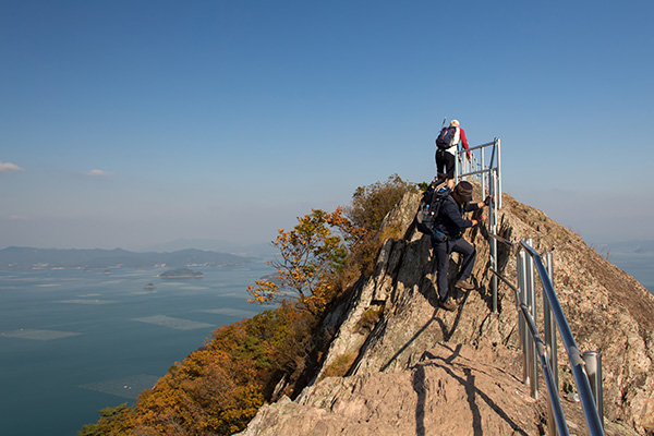 Crossing the Moon Rock on the Saryangdo Island Ridge Hike, Tongyeong, South Korea
