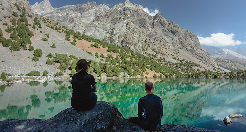 Independent Trekking In The Fann Mountains, Tajikistan: Haft Kul to Alauddin - Saying our goodbyes to the amazing Alauddin Lake