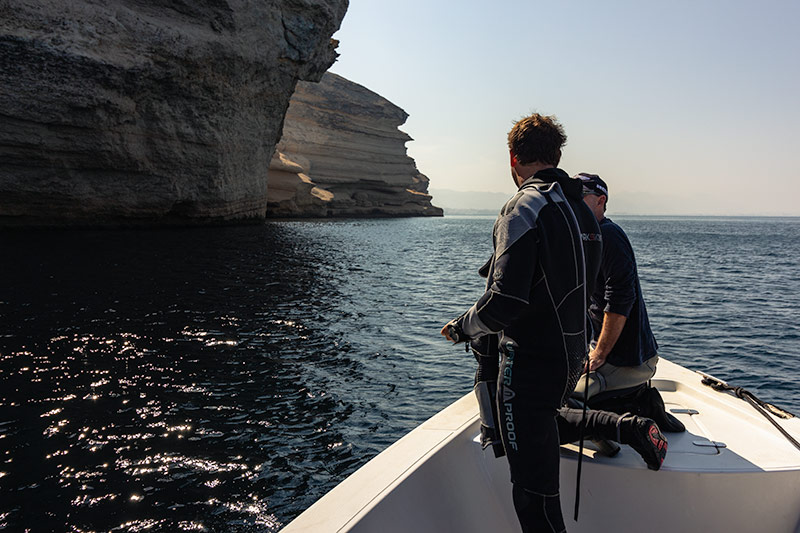 Back on the boat, we cruised around Fahal island to our second dive site, Bill's Bumps