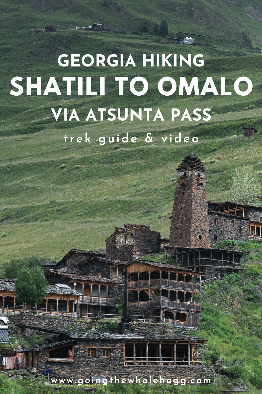Trekking from Shatili to Omalo via Atsunta Pass