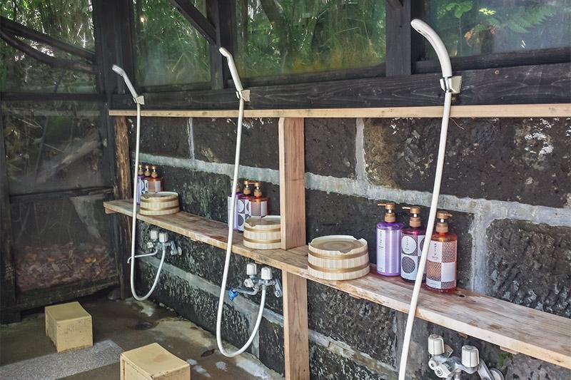 Showers at Ryokan Konoyu, Kurokawa Onsen