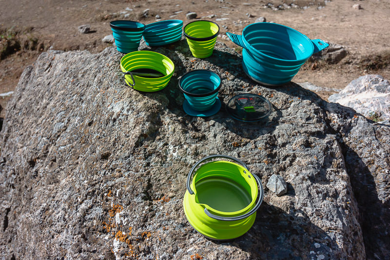 Collapseable camping cookware from Sea to Summit