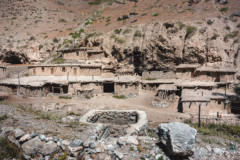 A traditional mudbrick village in the Fann Mountains of Tajikistan