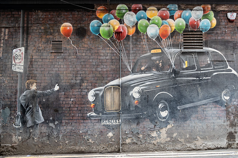 Glasgow Mural Trail - Glasgow Taxi