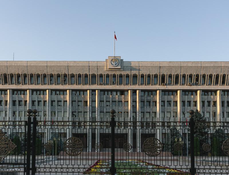 The Soviet era Presidential Palace in Bishkek