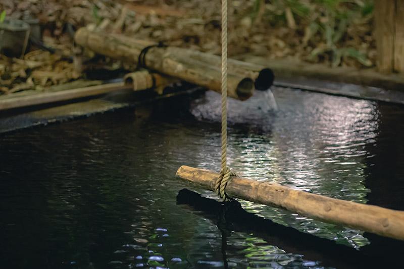 The standing bath at Ryokan Konoyu, Kurokawa Onsen