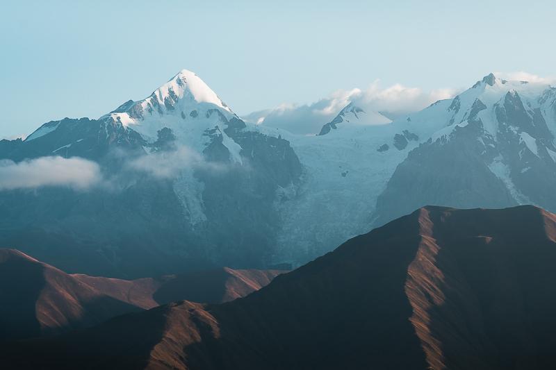 A view of Tetnuldi peak from Latpari Pass on the Ushguli to Chvelpi hike