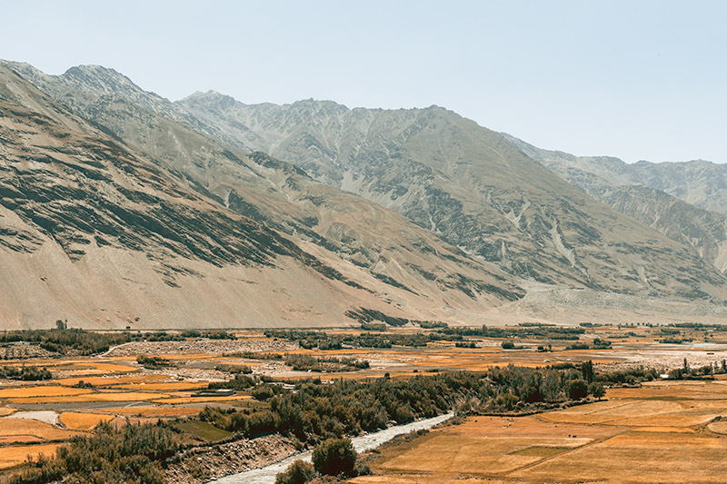 A view over the fertile Wakhan Valley