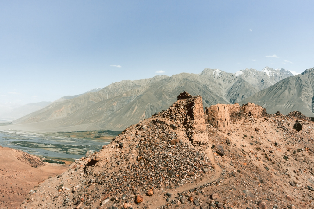 With a commanding view over the Wakhan Valley, Yamchun Fortress is remarkably well preserved given the area's susceptibility to earthquakes and landslides. Here it is with its crumbling ramparts glowing in the afternoon sun.