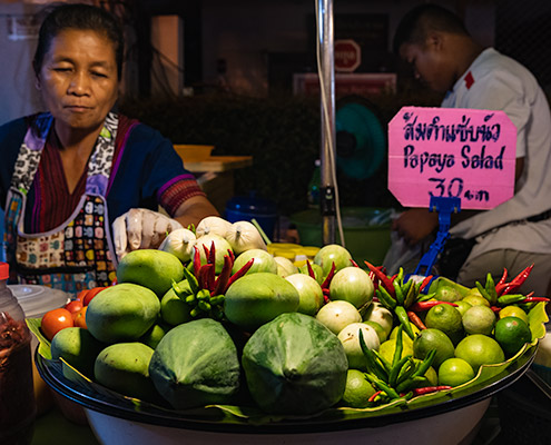San Kamphaeng Saturday Market in Chiang Mai, Thailand
